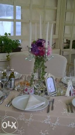 sfesnic lumanari suport fier forjat masa decor nunta evenimente nunti