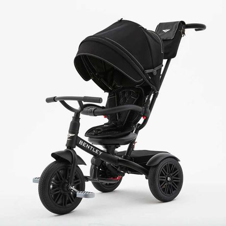 Tricicleta BENTLEY 6 in 1 Black Edition pentru copii. Carucior Bentley
