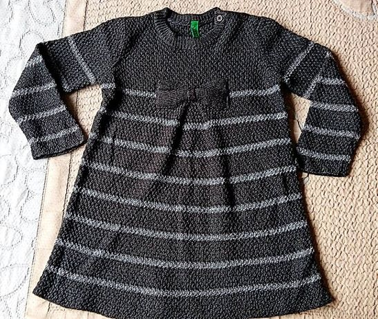 Детска плетена рокличка - блузон на Benetton