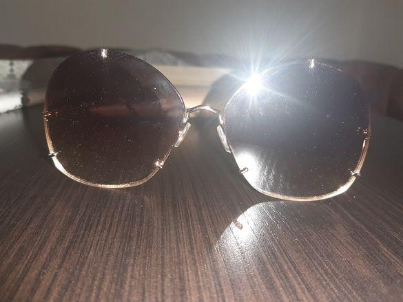 Max Mara Слънчеви очила Pilot с метална рамка