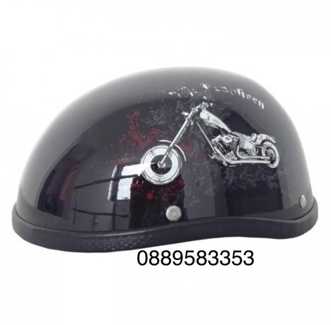 Каска за мотор - 2499 мотор - черен гланц