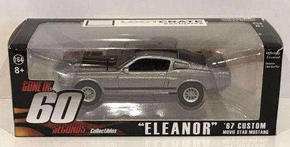 1/64 Greenlight 'Eleanor' '67 Ford Mustang Форд Мустанг Нов В Кутия
