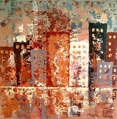Современная абстрактная картина на холсте Интерьер Акрил Абстракция