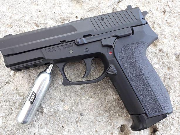 Reducere Foarte PUTERNIC Pistol AIRSOFT Sig Sauer Metalic CO2 P99 Dao