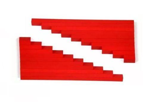 ТОП ОФЕРТА - Два Комплекта Монтесори Дървени Червени Стикове пръчки ле