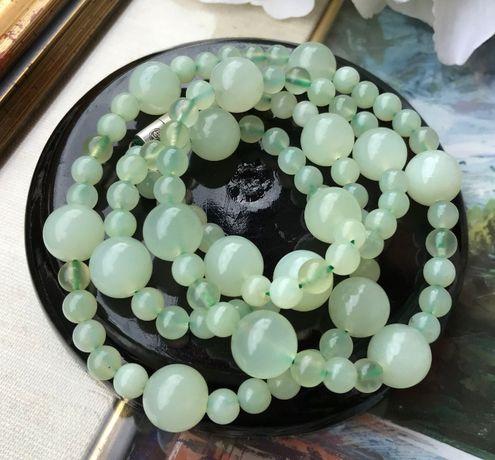 Colier jad China argint