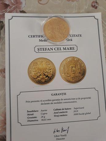 Medalie comemorativă Aurie cu certificat de autenticitate