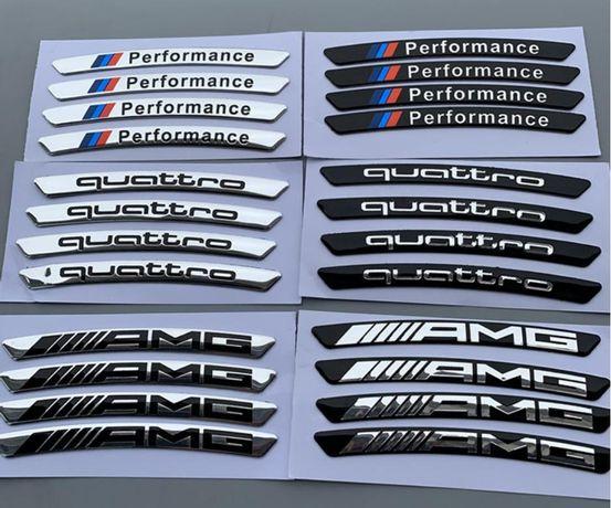 Емблеми  AMG quattro M perfomance за джанти