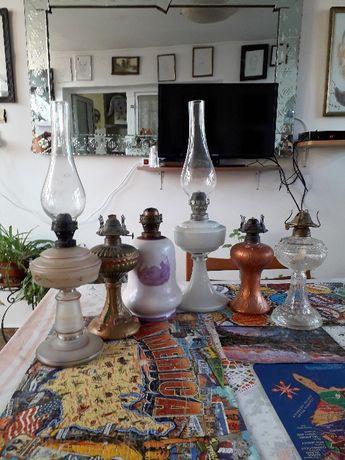 Lampi pe gaz din sticla vechi