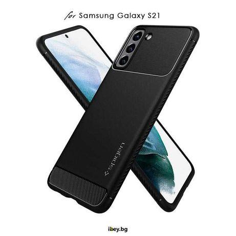 Кейс Spigen Rugged Armor за Samsung Galaxy S21, S21 Plus, S21 Ultra