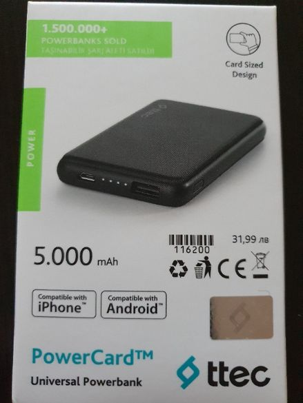 Батерия PowerCard 5000mAh