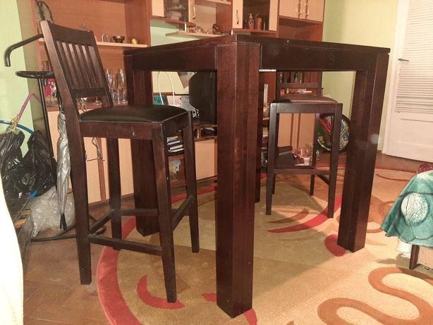 Masa din lemn masiv, wenge