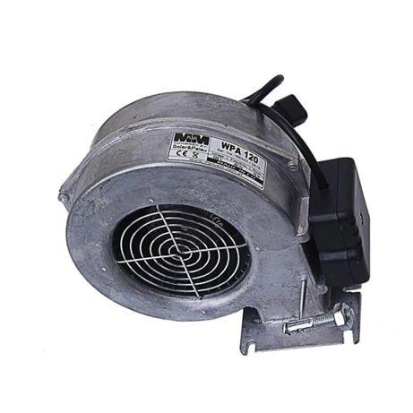 Автоматика для твердотопливного котла, вентилятор WPA 120.