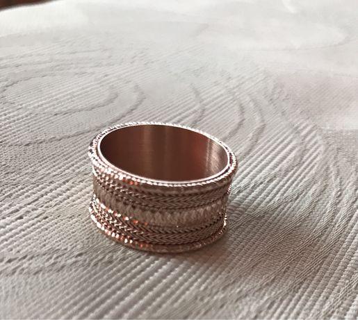 Сребърен пръстен с розова позлата Oxette 54 размер НОВ