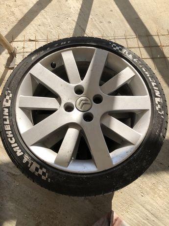 Jante aliaj Citroen (Peugeot) 4x108 R17 cu anvelope de vară Michelin