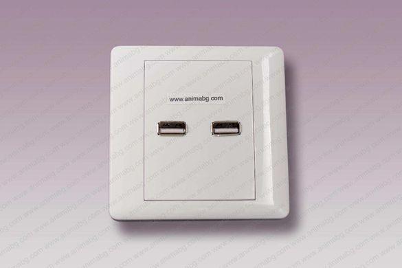 ANIMABG Розетка за стена 2 X USB