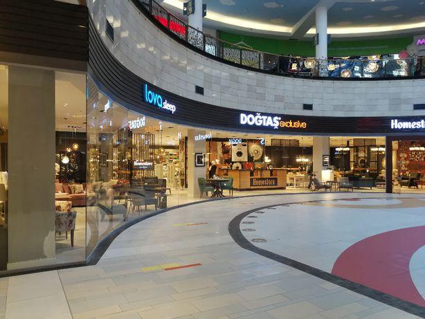 Перегородки стеклянные и витрины для торговых центров, магазинов