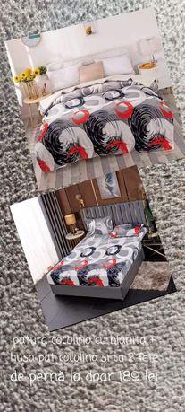 Pătură Cocolino cu blăniță+husa de pat CoCoLiNo cu 2 fete de perna