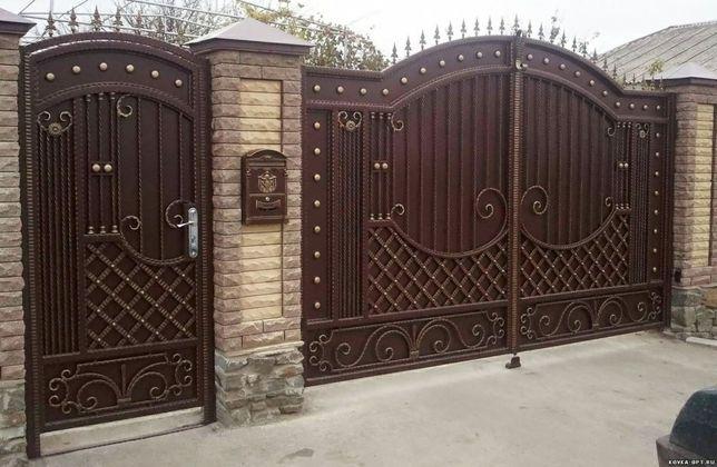 откатные ворота.Решетки,двери,ворота,заборы