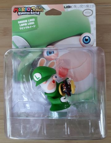 Figurine de colectie Rabbid Luigi, Mario + Rabbids Kingdom Battle, UBI