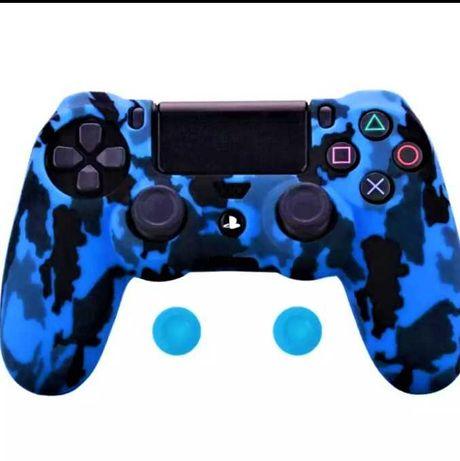 husa silicon camuflaj controller ps4, army color
