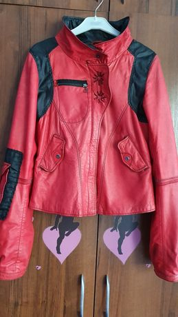 Итальянская стильная кожанная куртка