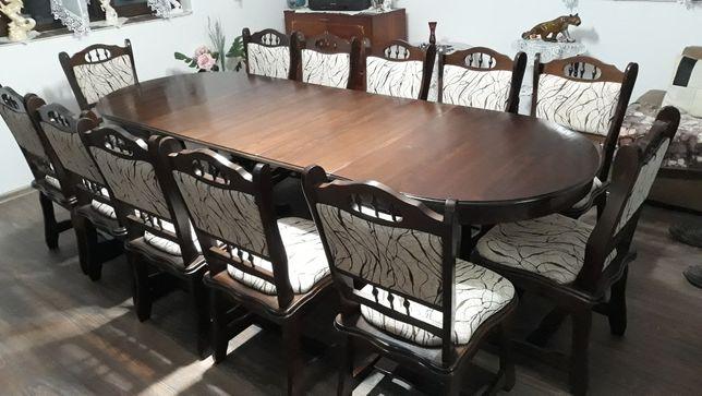 Vand set rustic masa extensibila cu 12 scaune
