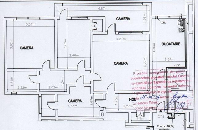 Vand apartament 4 camere Et 3/4, Micro 39B