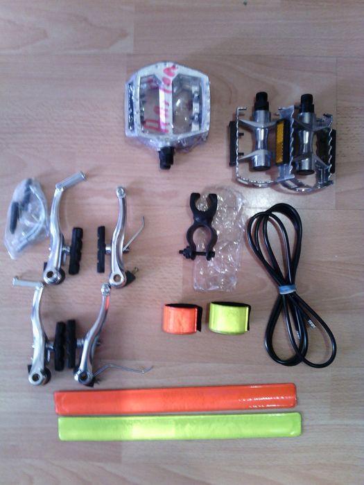 Нови части за велосипед/колело.Калник,педали,броня,ленти,стойка за фар