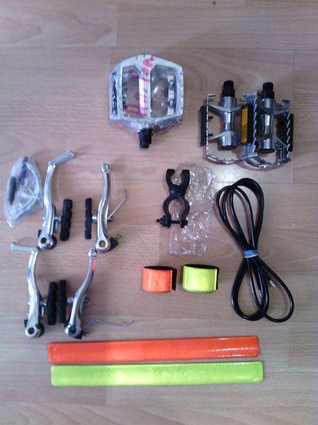 Нови части за велосипед/колело.Калник,педали,броня,ленти,стойка за фар гр. Плевен - image 1