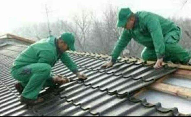 Reparați acoperișuri de urgență montam jgheaburi burlane