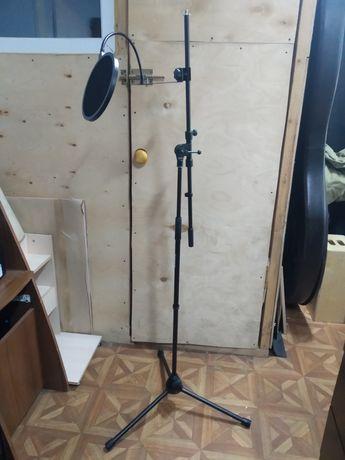 Стойка микрофонная, поп-фильтр