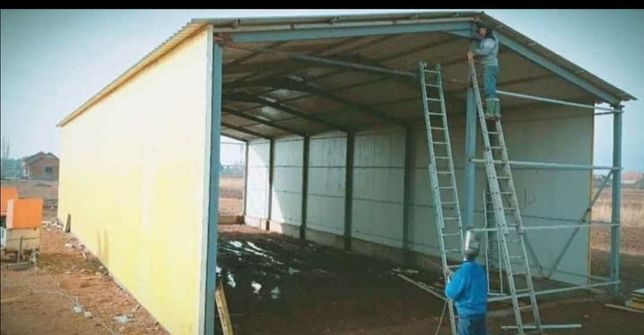 Vand hala metalica servici auto spalatori garaje auto șoproane