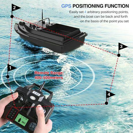 Лодка за захранка с GPS.
