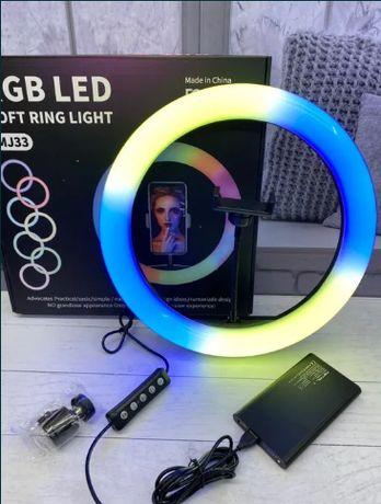 В Подарок Штатив! Новые кольцевые Лампы LED RGB тик ток селфи д Астана