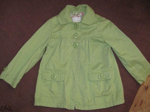 Зелено пролетно-есенно палто/ тренч на Next за 3-4 и 5-6 г