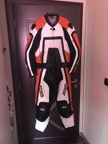 Costum moto de piele 2 piese XLS