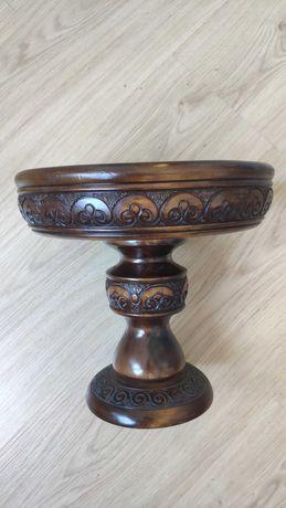 Деревянная ваза-фруктница