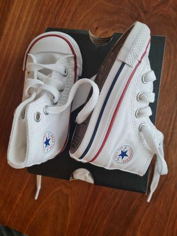 Нови кецове Converse бели 20 размер