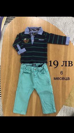 Бебешки дрехи, комплект, фланелка с панталон Mayoral 6 месеца