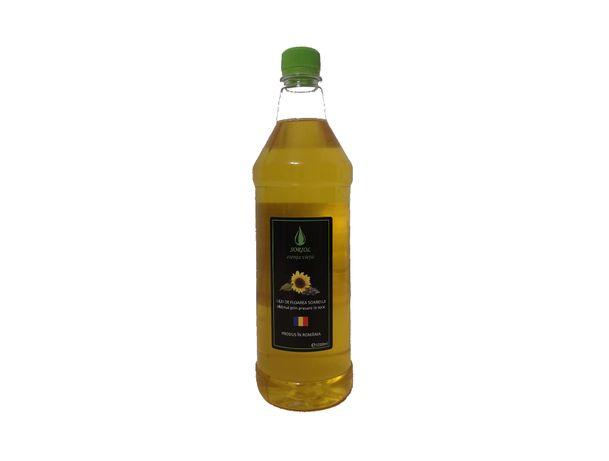 Ulei de floarea soarelui - PET 1000 ml, obținut prin presare la rece