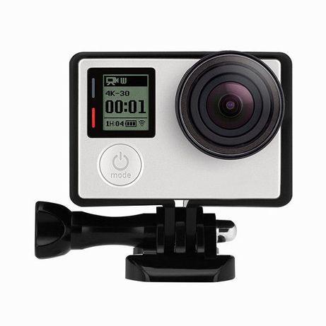 Рамка за екшън камери GoPro Hero 3/3+/4 + болт + щипка   HDCAM.BG