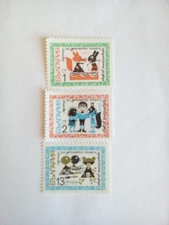 бг. пощенски марки - седмица на детската книга 1969 + детска серия