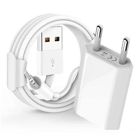 Pachet Accesorii Incarcator Cablu Usb Casti - Iphone