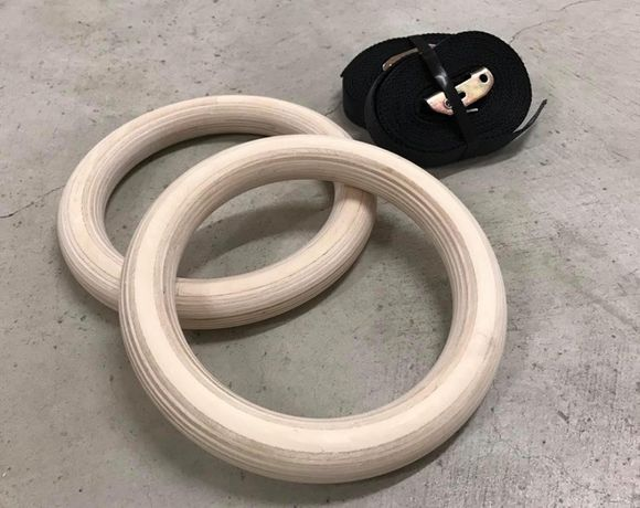 Халки за гимнастика   GYM RING WOODEN