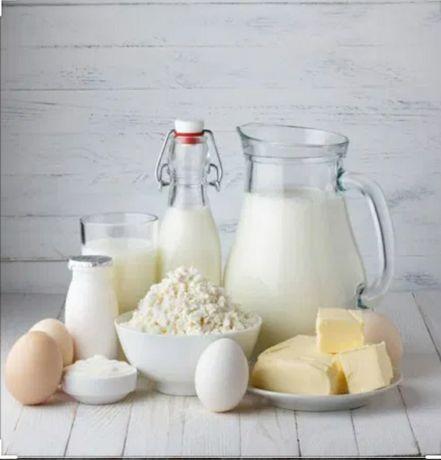 Домашние молоко, творог, сметана, сливочное масло