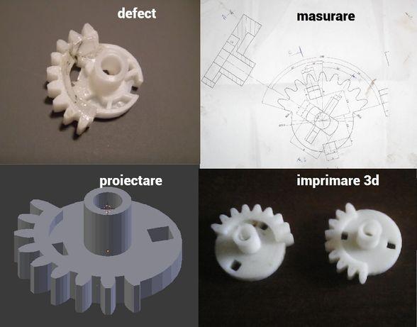 Imprimare/printare 3D, prototipare si proiectare grafica 3D, 2D. DTP.