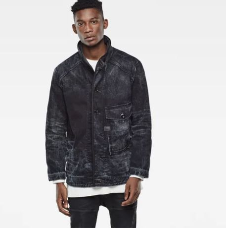G-Star Raw Coban rail jacket color black aged