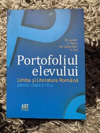 Portofoliul elevului limba Romana cls IX-a
