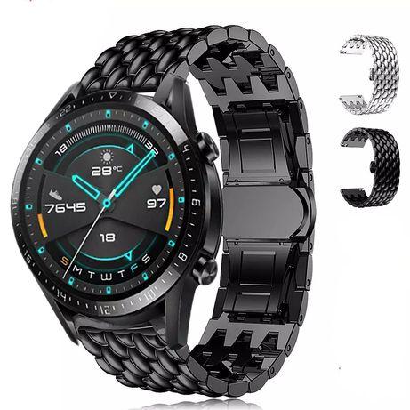 Huawei watch GT2/Pro/GT , Samsung 46mm стоманена верижка + протектор